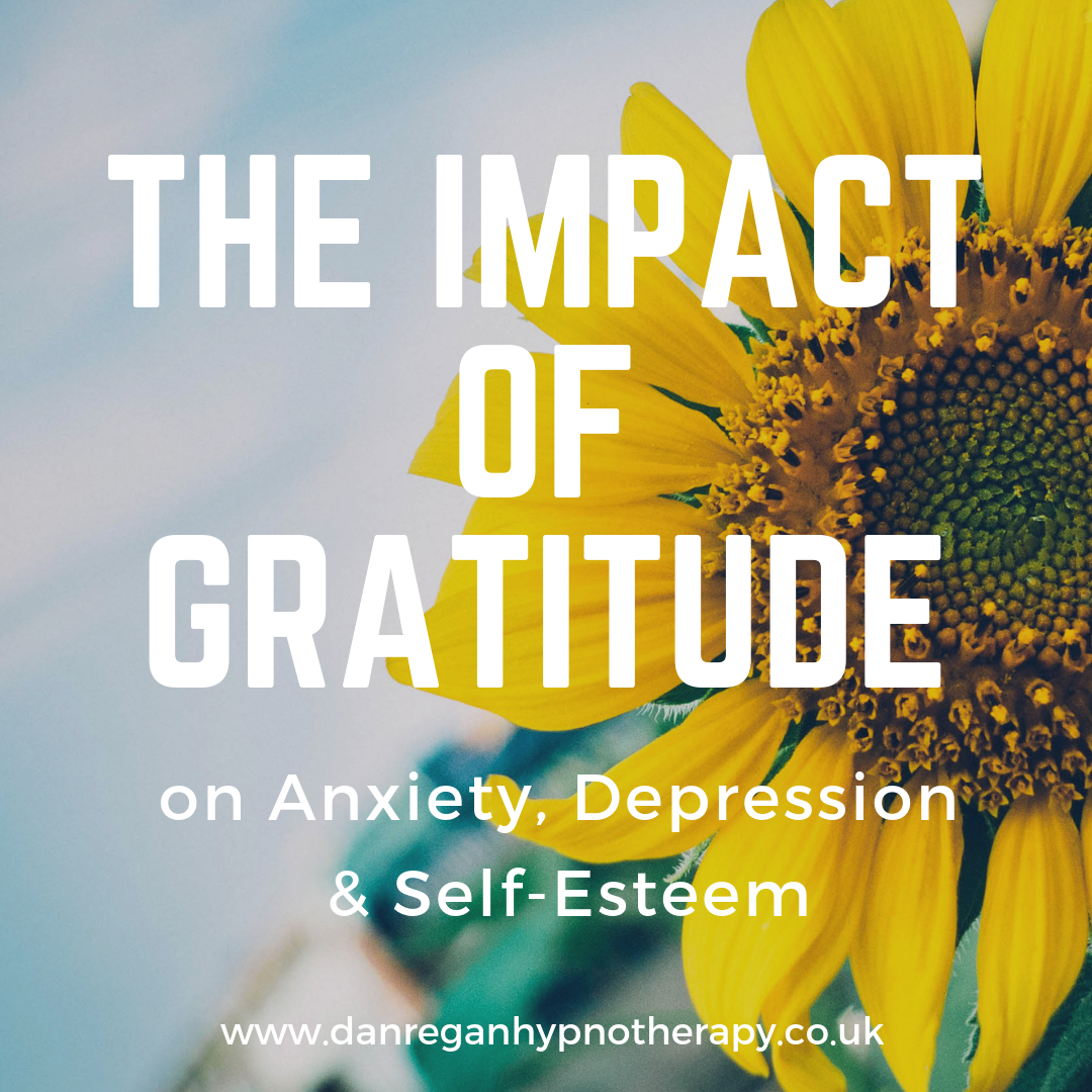 Gratitude Anxiety depression Self Esteem hypnotherapy ely