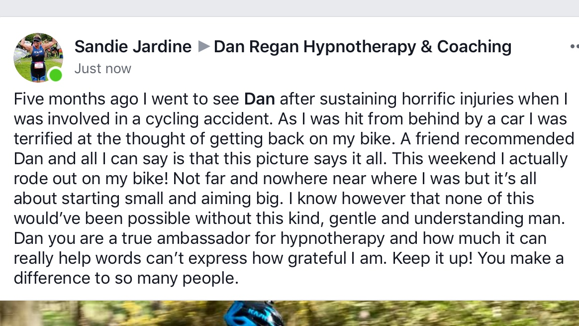 dan regan hypnotherapy ely reviews anxiety panic