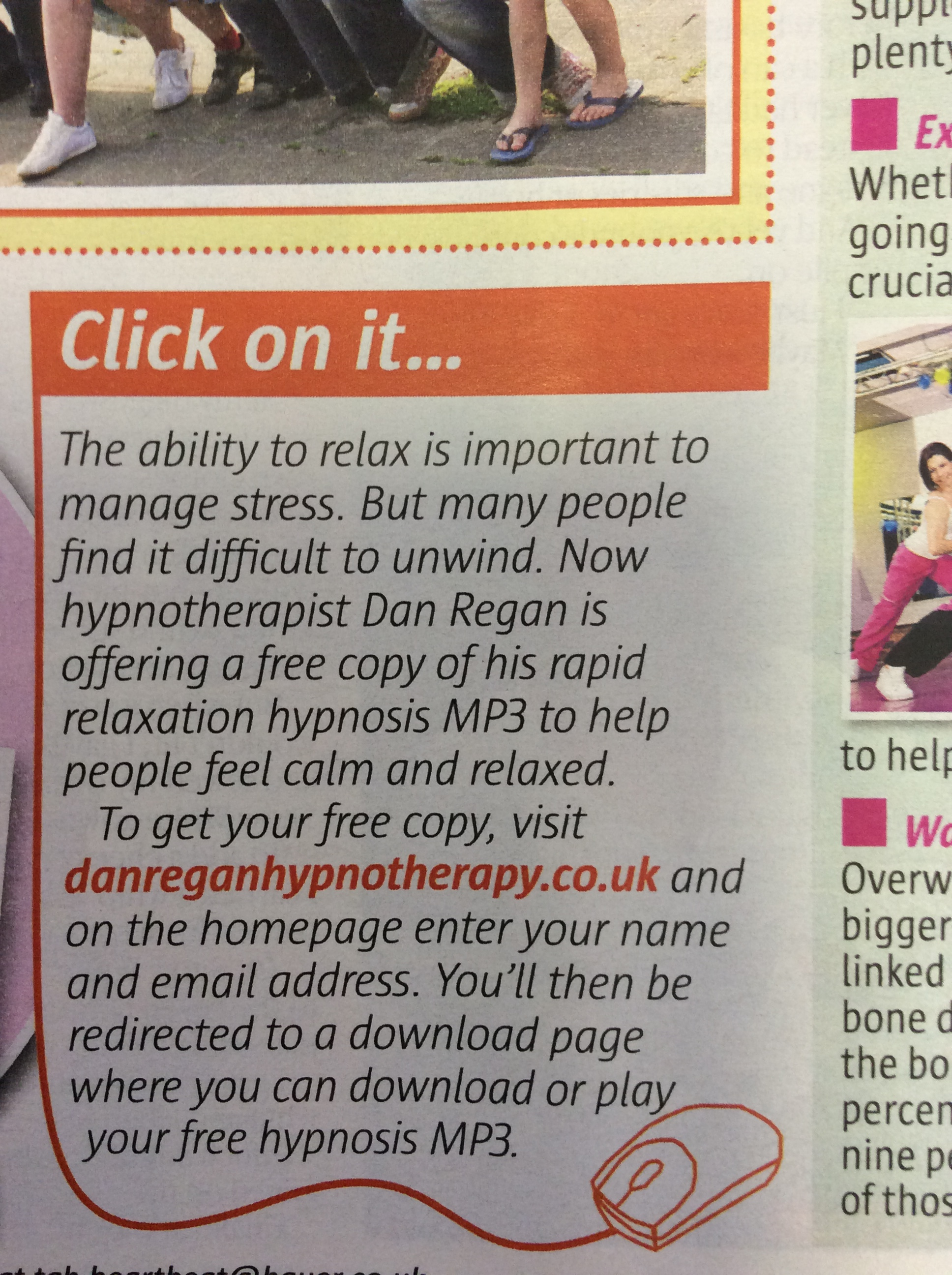 dan regan hypnotherapy ely take a break