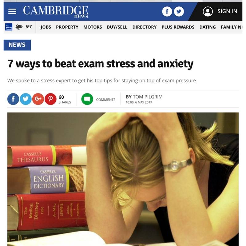 exam stress and anxiety hypnotherapy cambridge news