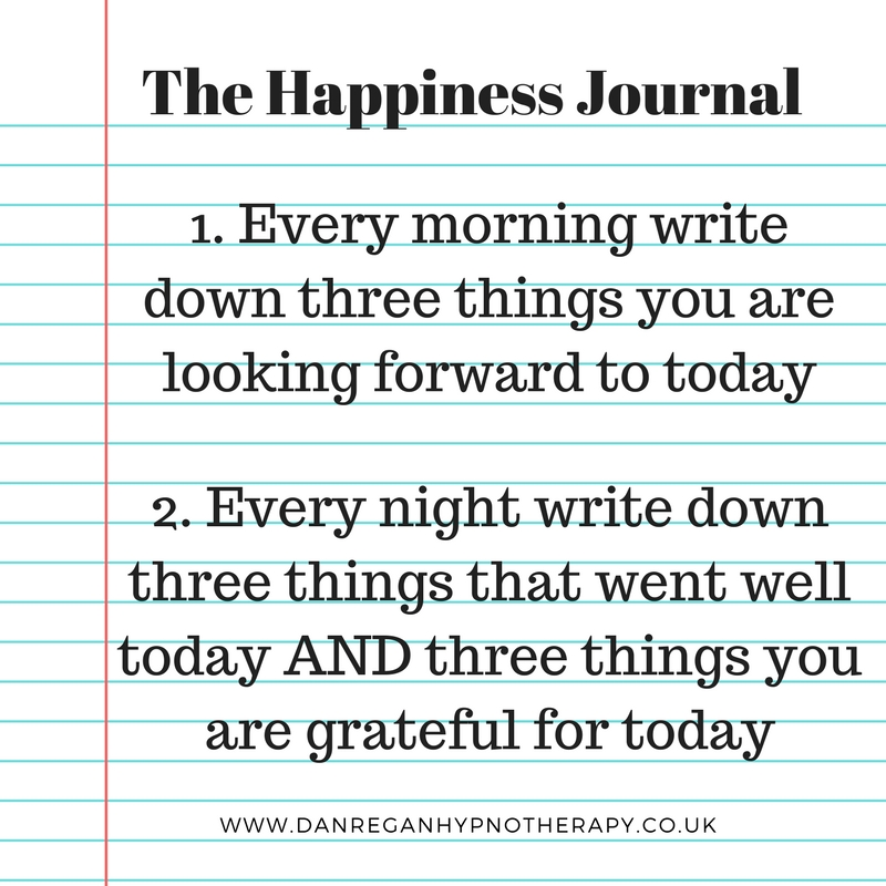 happiness and gratitude journal hypnotherapy ely