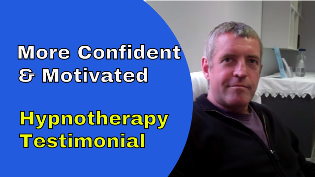 hypnotherapy self confidence and motivation testimonial clive