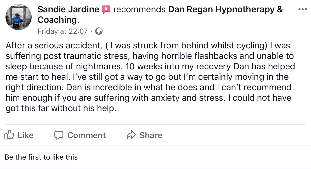 post traumatic stress testimonial
