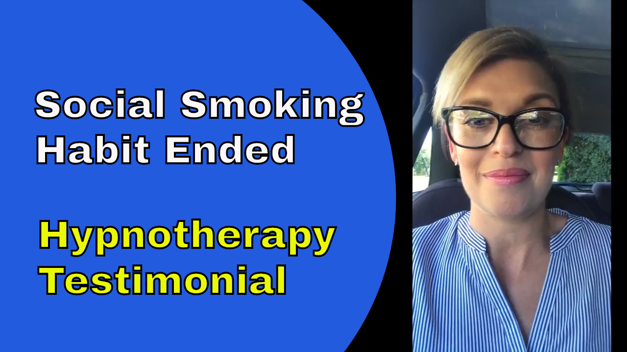 social smoking habit ended hypnotherapy testimonial