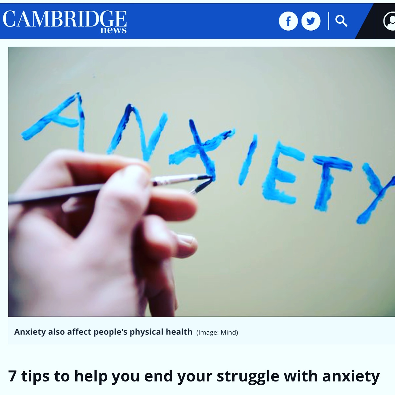 world mental health day anxiety help cambridge news